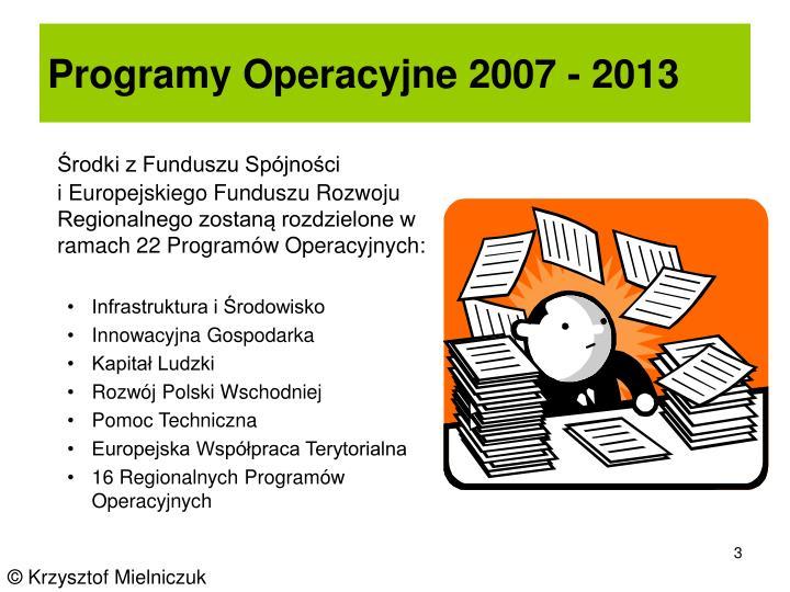 Programy Operacyjne 2007 - 2013