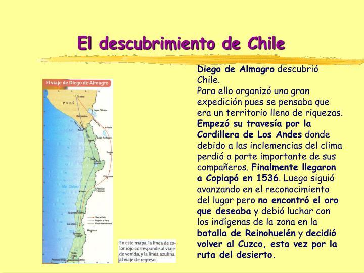 El descubrimiento de Chile