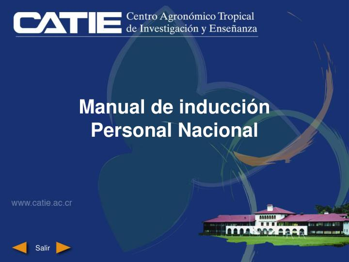 Manual de inducción