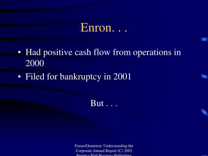 Enron. . .