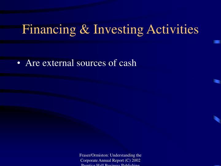 Financing & Investing Activities