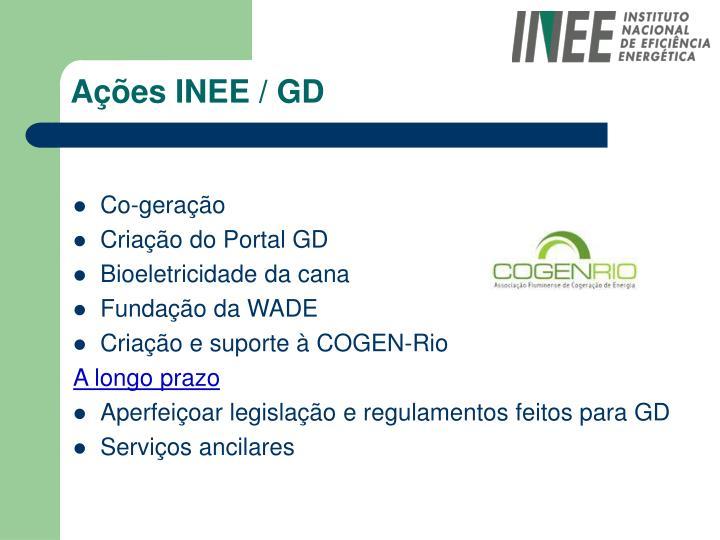 Ações INEE / GD