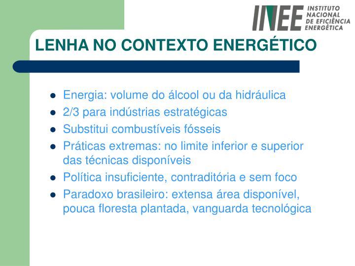 LENHA NO CONTEXTO ENERGÉTICO