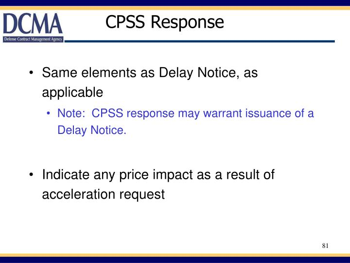 CPSS Response