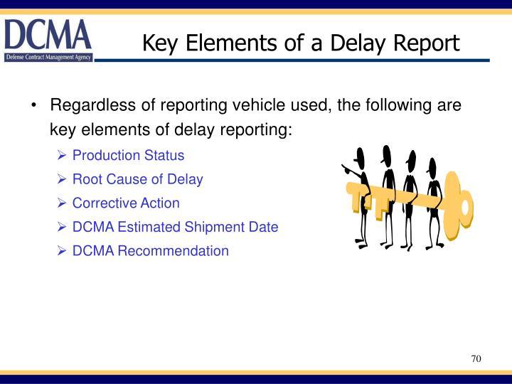 Key Elements of a Delay Report
