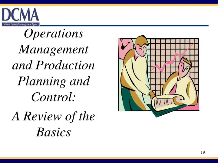Operations Management and Production Planning and  Control:
