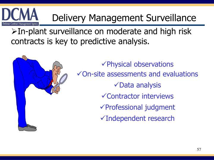 Delivery Management Surveillance