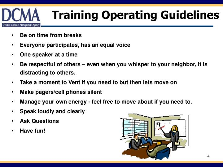 Training Operating Guidelines