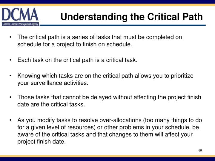 Understanding the Critical Path