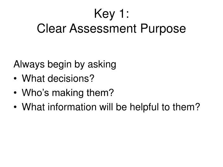 Key 1: