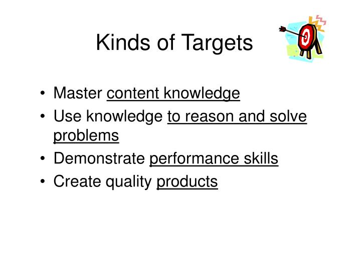 Kinds of Targets