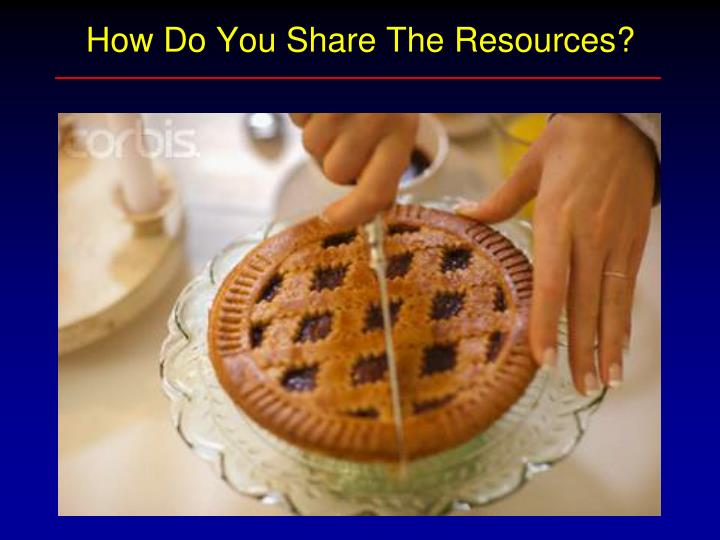 How Do You Share The Resources?