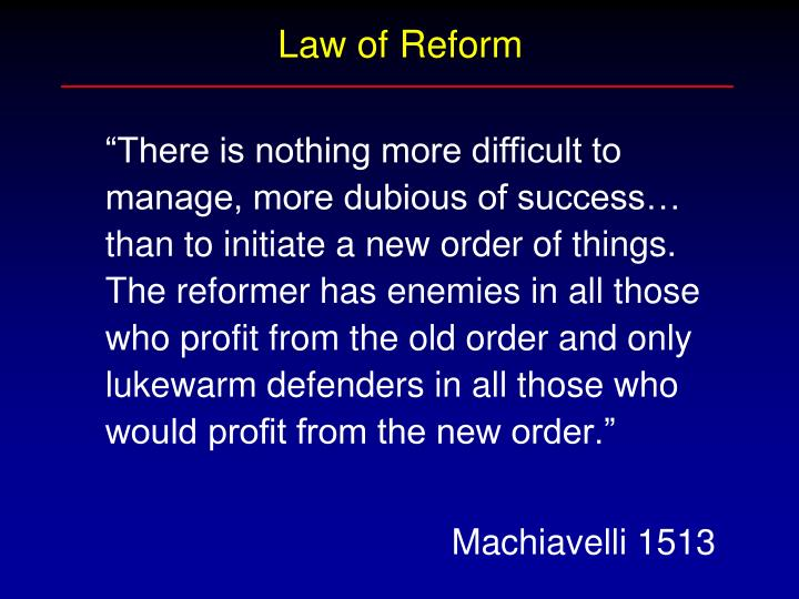 Law of Reform