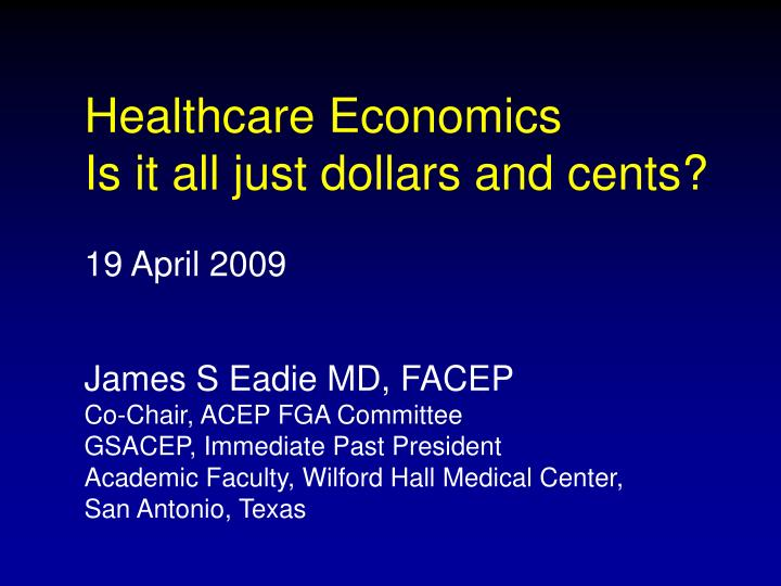 Healthcare Economics
