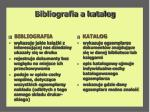 bibliografia a katalog
