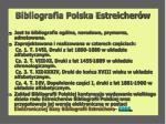bibliografia polska estreicher w