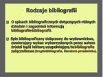 rodzaje bibliografii8