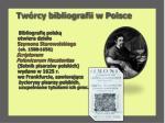 tw rcy bibliografii w polsce