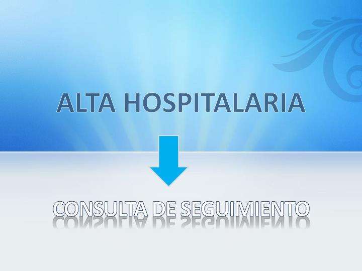 ALTA HOSPITALARIA