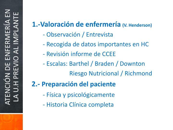 1.-Valoración de enfermería