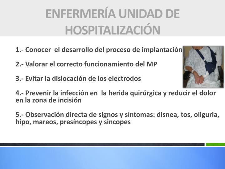 ENFERMERÍA UNIDAD DE HOSPITALIZACIÓN
