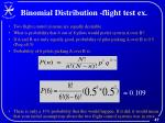 binomial distribution flight test ex
