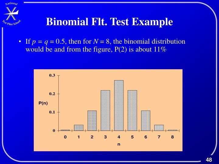 Binomial Flt. Test Example