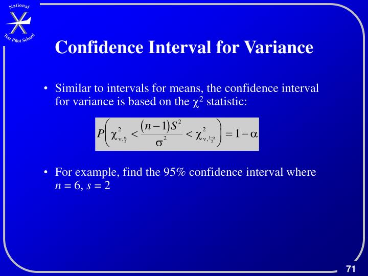 Confidence Interval for Variance