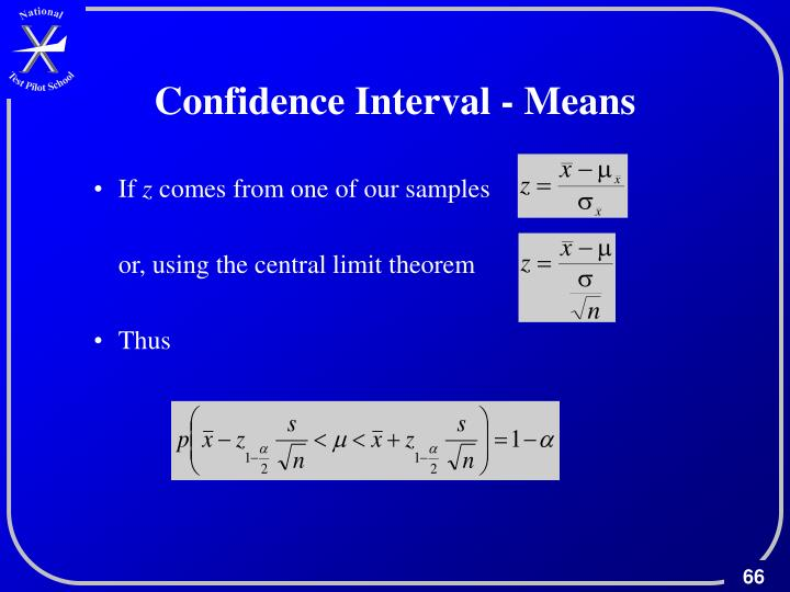 Confidence Interval - Means