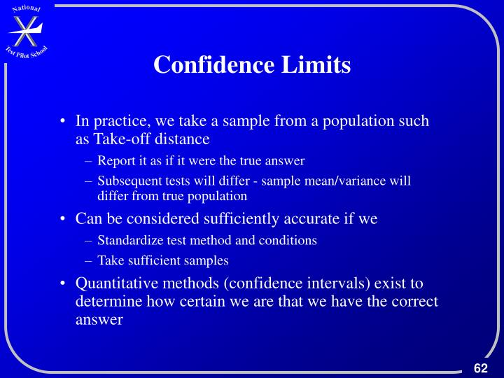 Confidence Limits