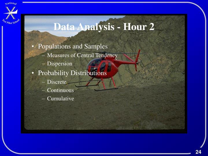 Data Analysis - Hour 2