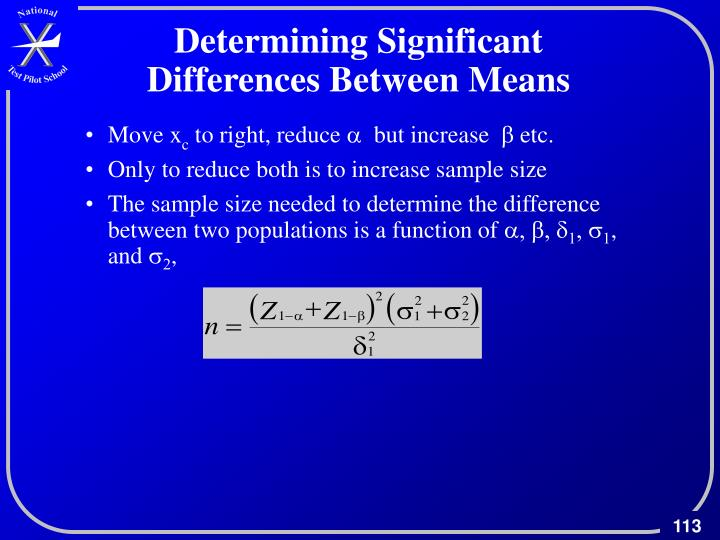 Determining Significant Differences Between Means