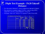 flight test example pa28 takeoff distance