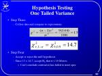 hypothesis testing one tailed variance1
