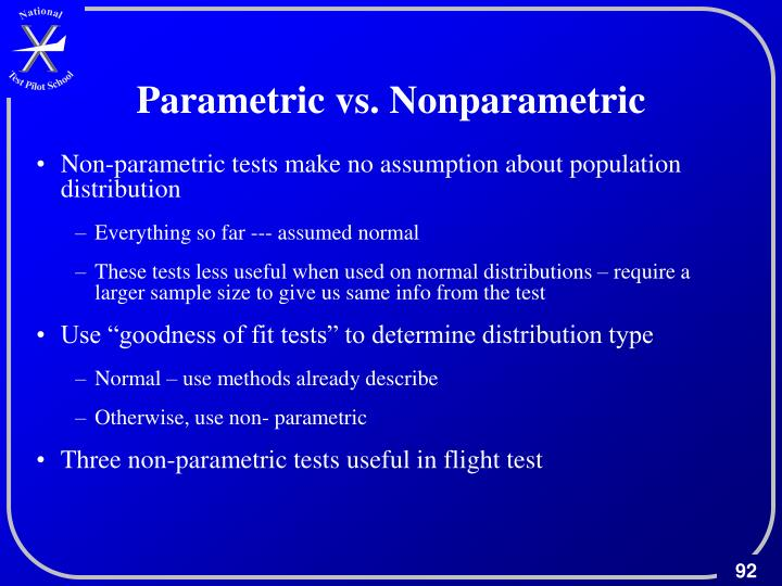Parametric vs. Nonparametric
