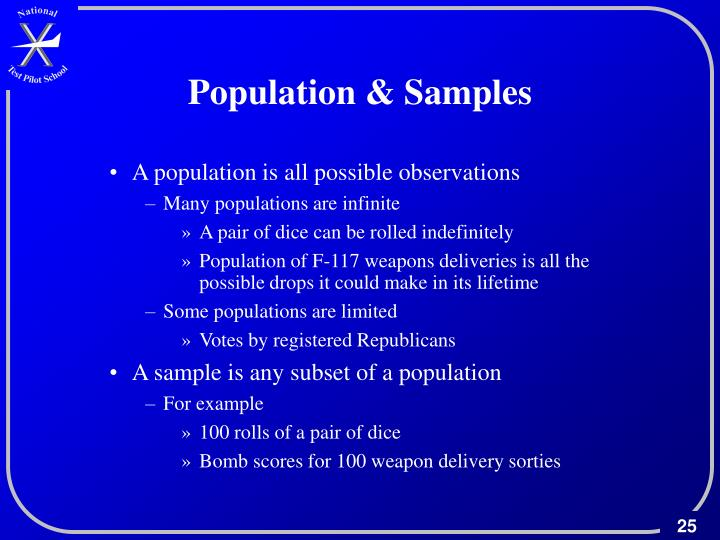 Population & Samples