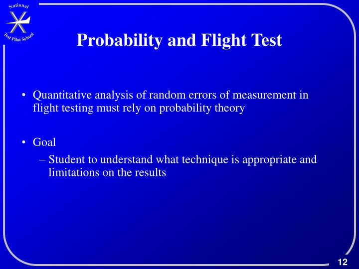 Probability and Flight Test