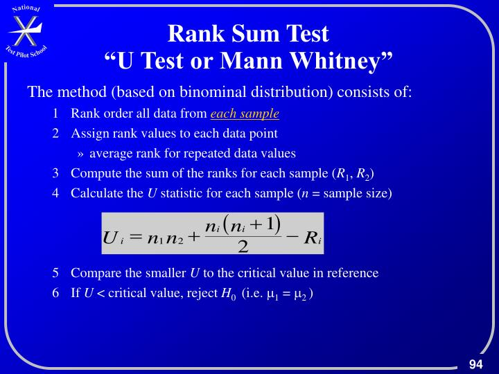Rank Sum Test