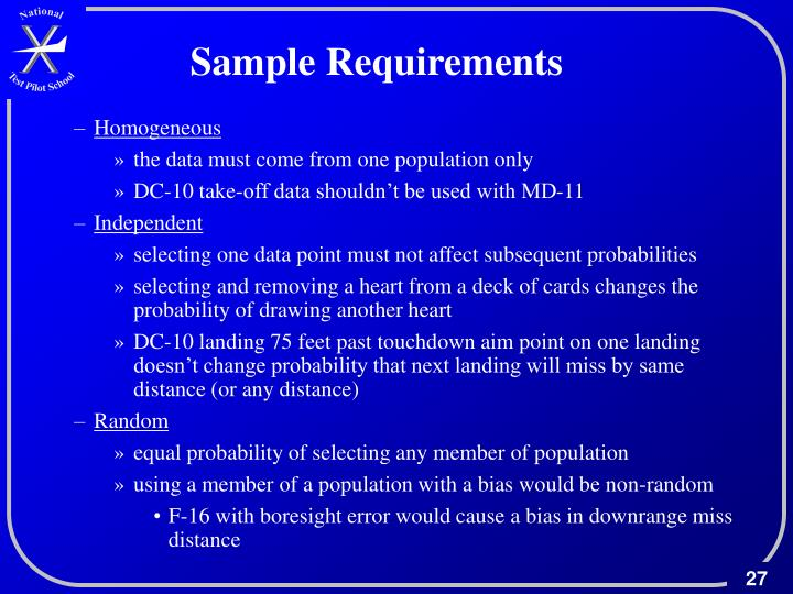 Sample Requirements