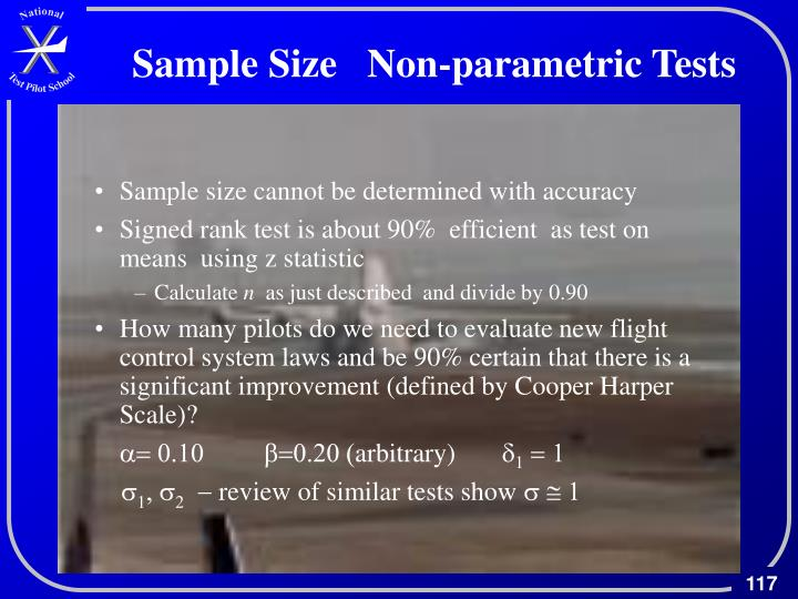 Sample Size   Non-parametric Tests