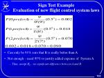 sign test example evaluation of new flight control system laws1