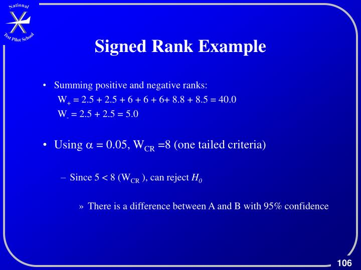 Signed Rank Example