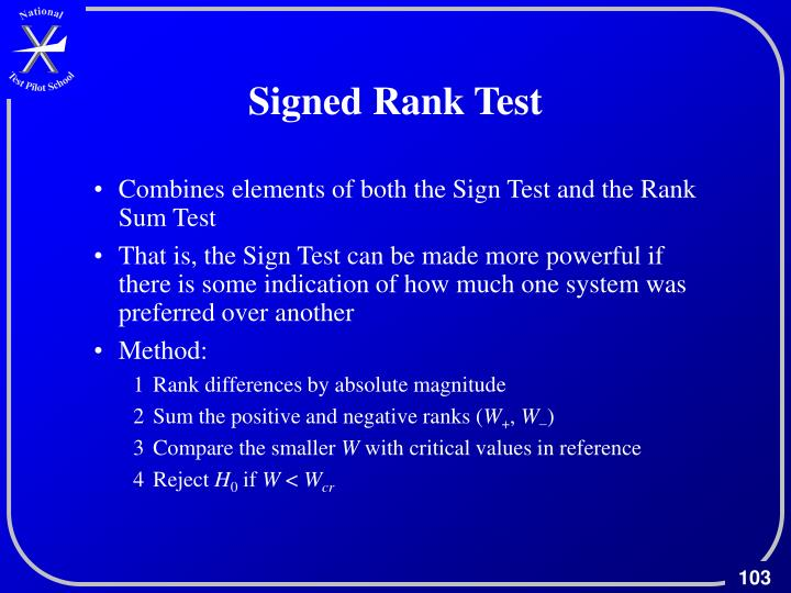 Signed Rank Test