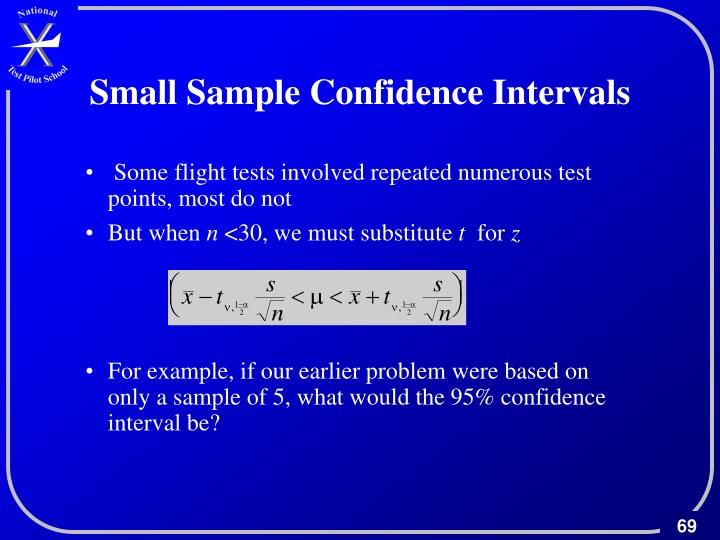 Small Sample Confidence Intervals
