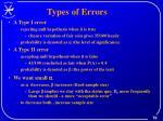 types of errors1
