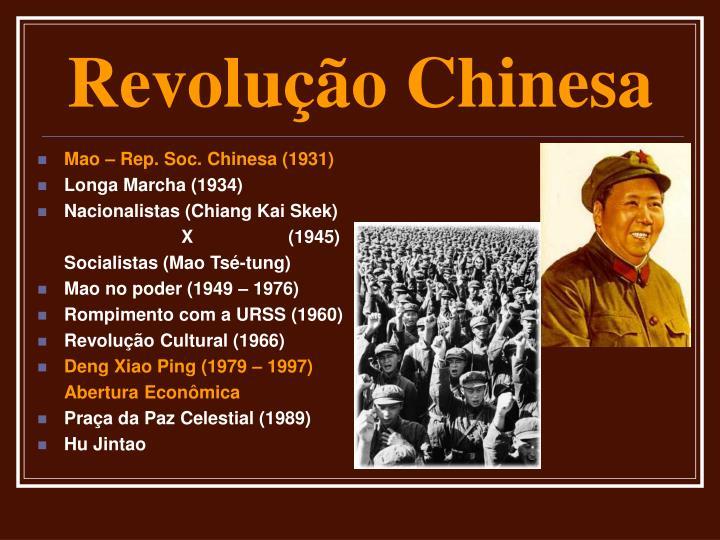 Mao – Rep. Soc. Chinesa (1931)