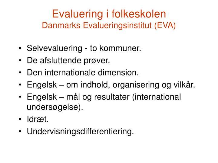 Evaluering i folkeskolen