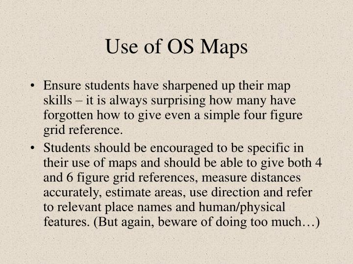 Use of OS Maps