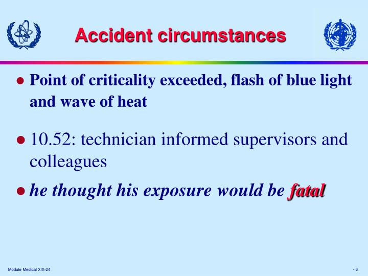 Accident circumstances