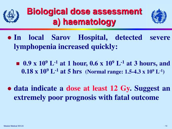 Biological dose assessment